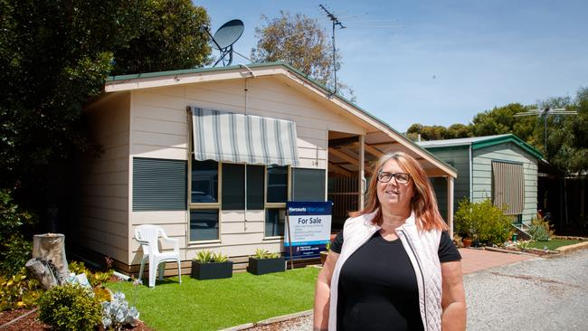Dawn Mallabone at her home (which is located within the BIG4 Port Willunga Tourist Park)