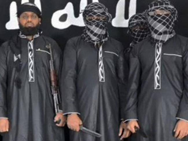 Some of the men thought to be responsible for carrying out bombings in Sri Lanka that killed more than 250 people. Picture: AFP