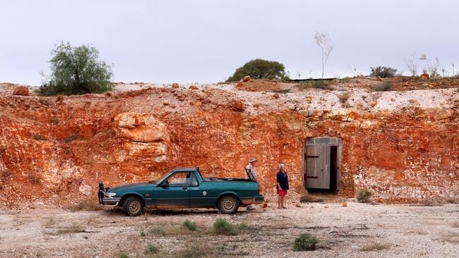 Mal and Enid's next project, to convert a former 1900s Opal mine into a luxury home. Pic: Grant Turner / Mediakoo.com