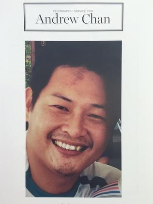 The order of service for Andrew Chan's funeral.