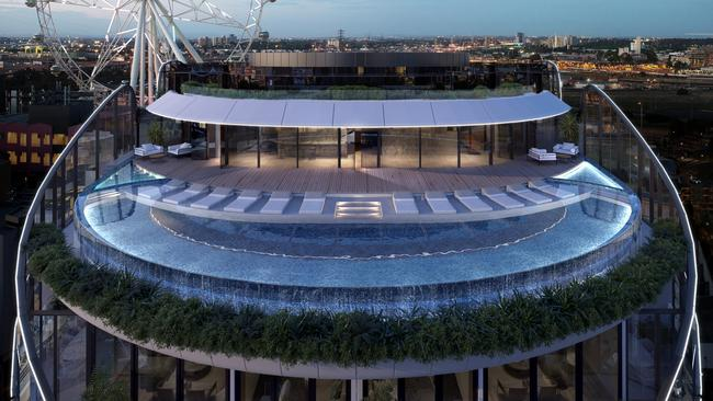 Rooftop pools and hotel-style amenities at Capital Alliance's The Docklands are winning over Melbourne buyers.
