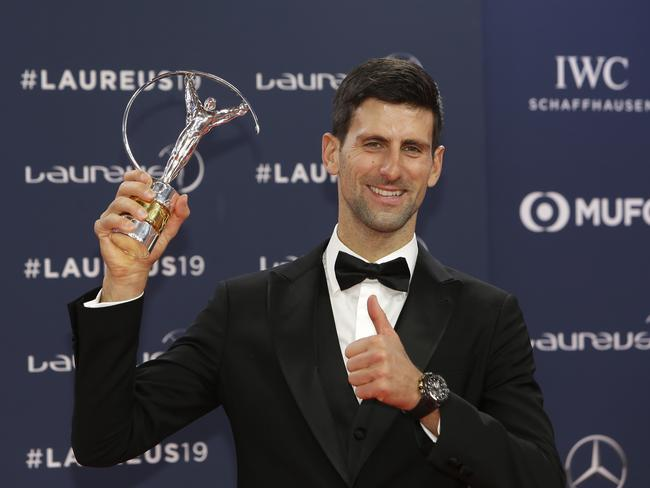 Novak Djokovic was named the Laureus Sportsman of the Year.