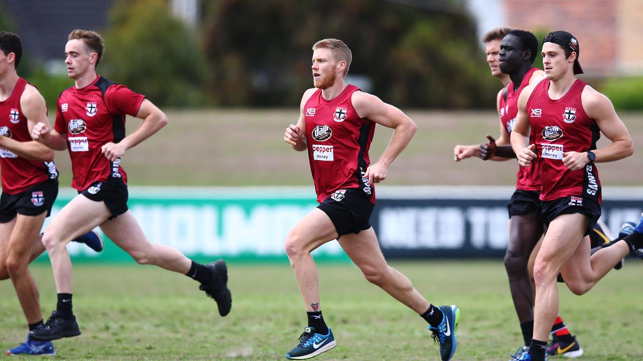 Dan Hannebery during a training session at his new club this month.
