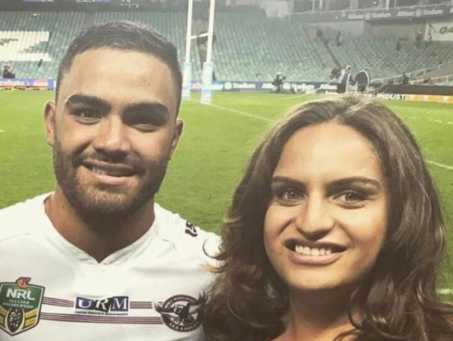 JADE Walker (right) with brother, Manly Sea Eagles star Dylan Walker, is charged with the manslaughter of boyfriend Gilbert Caetano.