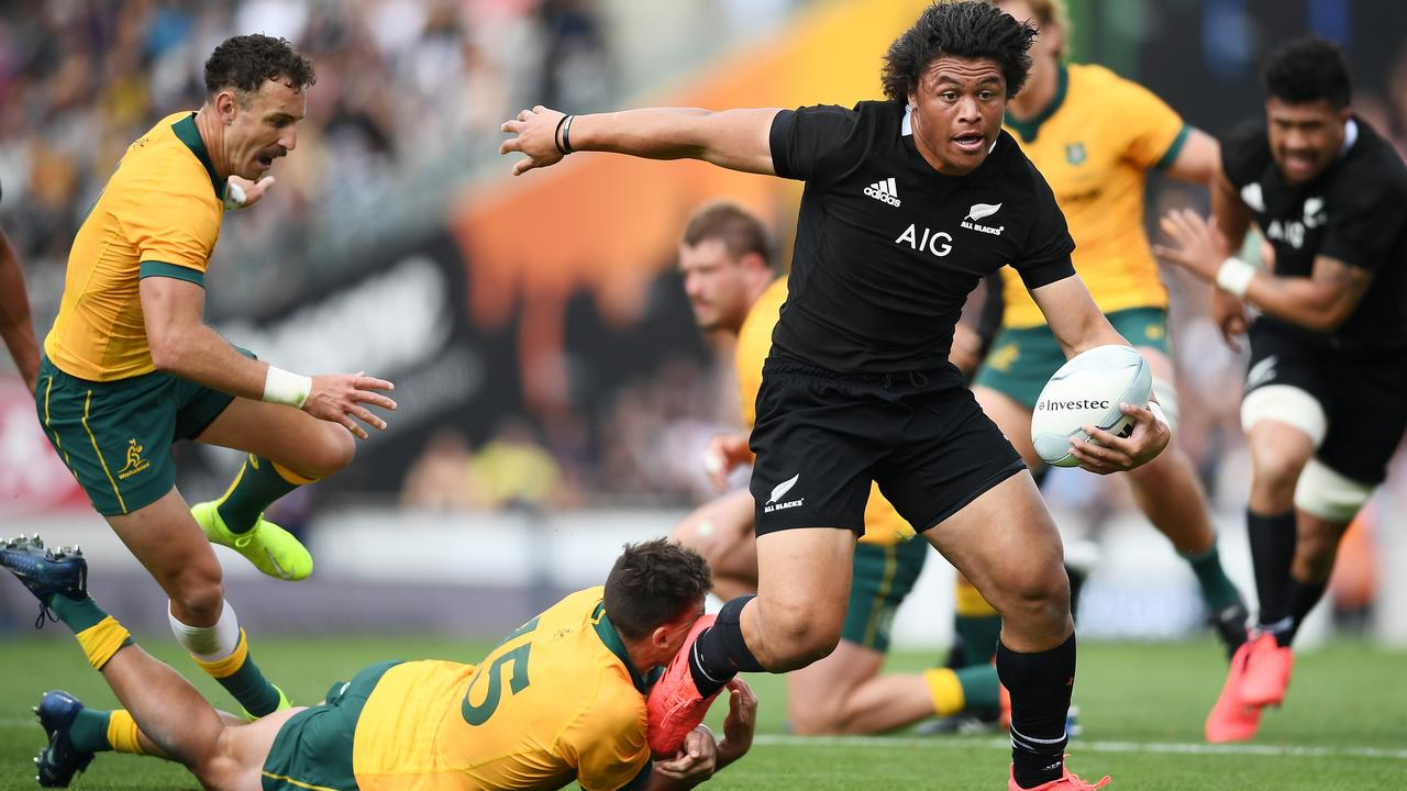 The Wallabies 'couldn't buy a tackle' against the All Blacks.