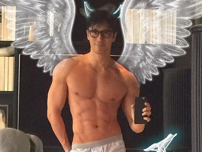 The angelic face and ripped body hide his real age of 50. Picture: Instagram