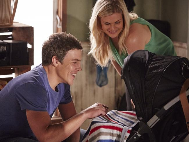 Stephen Peacocke as Darryl 'Brax' Braxton and Bonnie Sveen as Ricky Sharpe. Picture: Channel 7