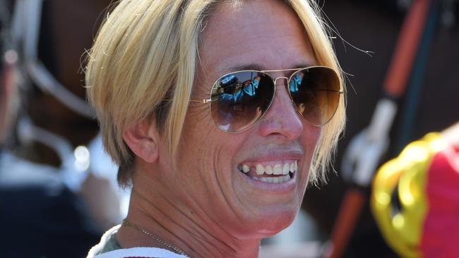 Kristen Buchanan hopes to snare an early winner with Arrogante in race two. Picture: AAP