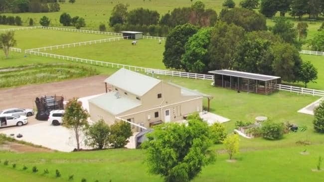 A birdseye view of Pete Evans farm.