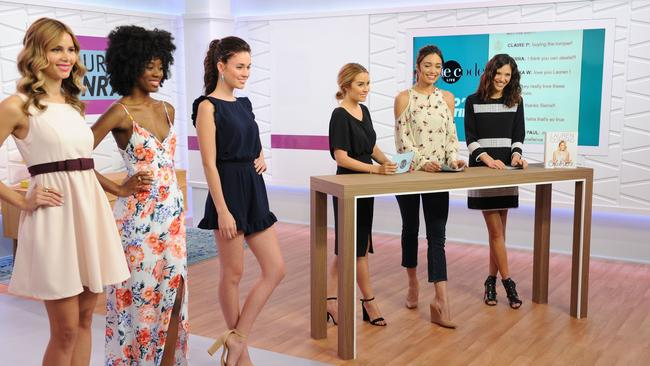 Australian Lyndsey Rodrigues (far right), appears on Amazon's Style Code Live with Lauren Conrad and Rachel Smith. Picture: Craig Barritt/Getty Images