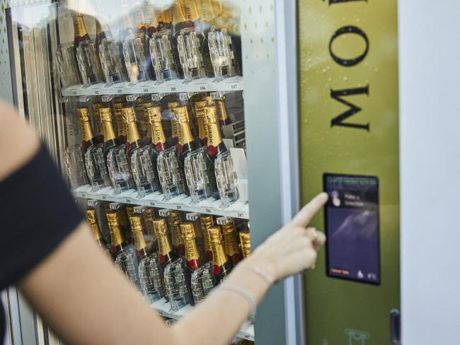 The champagne vending machine. Picture: Supplied