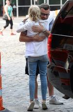 Liev Schreiber and Naomi Watts are seen hugging on July 23, 2015 in New York City. Picture: Getty