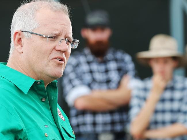 Mr Morrison's disapproval rating went up four points, to 43 per cent. Picture: Adam Taylor/PMO
