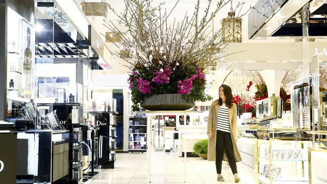 David Jones has had some success in consolidating its position at the upper end of the market. Picture: John Appleyard