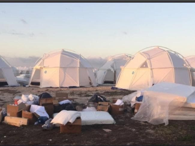 Fyre Festival guests arrived to a ruinous display before the festival had even begun.
