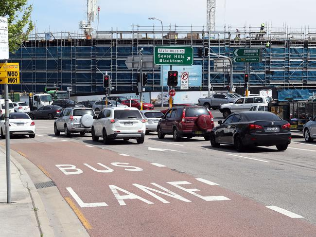 Drivers are confused about bus lane laws. Picture: David Swift