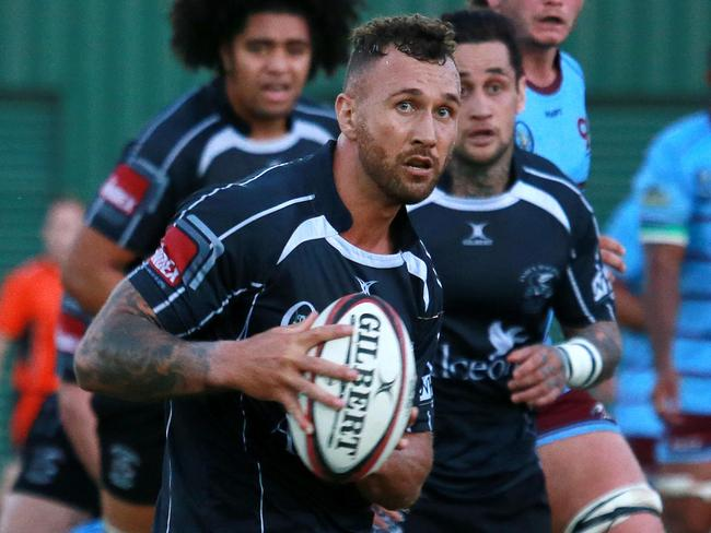 Quade Cooper in action for Souths Brisbane on Saturday.