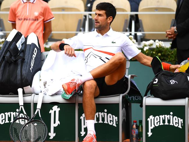 Novak Djokovic wasn't happy.