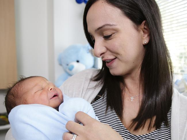 "Jeanette Nakhoul with Jacob: ""I'm so blessed and grateful to share this connection with my baby."" Picture: Justin Lloyd"