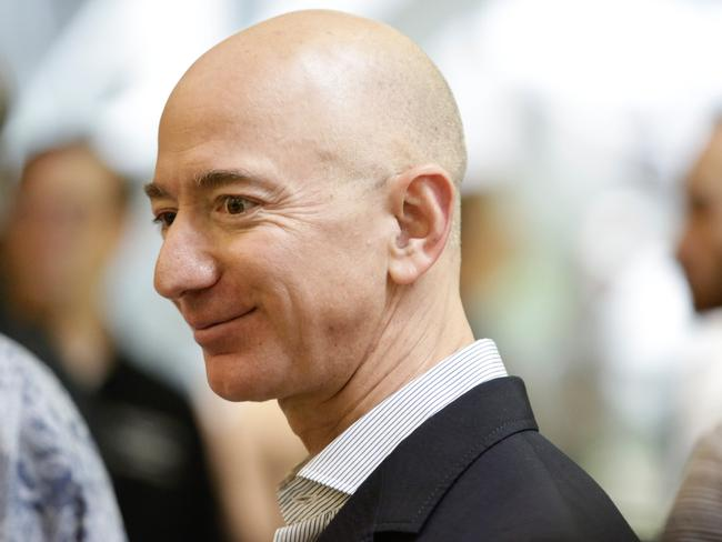 Jeff Bezos, the world's richest man, has not indicated a pricing structure for his Blue Origin space flights. Picture: AFP Photo / Jason Redmond