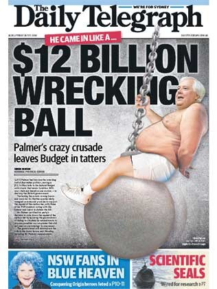 ... but she has nothing on Clive Palmer and his budget bashing.
