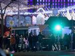 People stand at the area after a lorry truck ploughed through a Christmas market on December 19, 2016 in Berlin, Germany. Picture: Getty