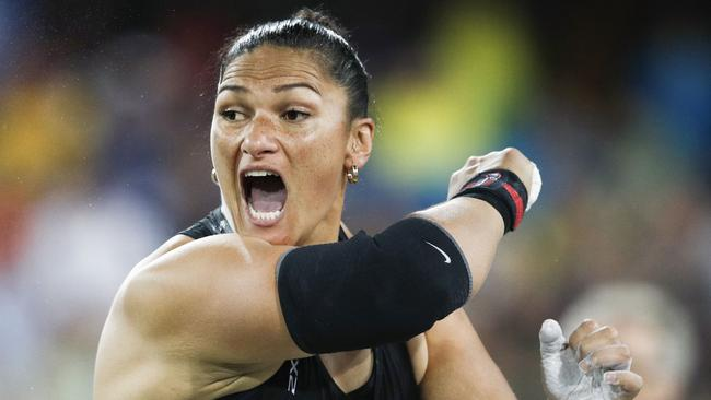 Olympic champion Dame Valerie Adams was denied a fourth successive Commonwealth Games gold. Picture: AFP Photo/Adrian Dennis