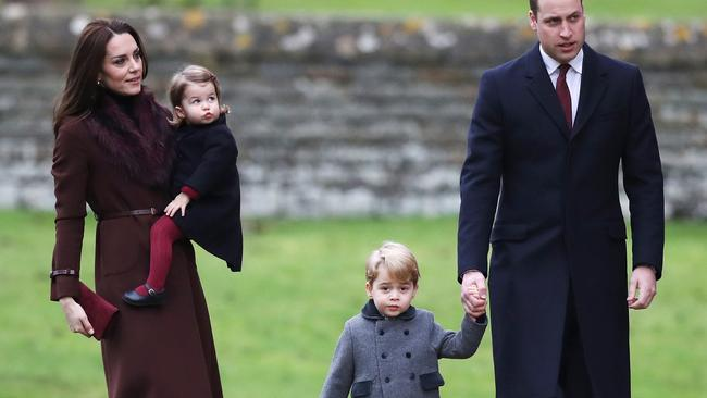 The royal family. Picture: Andrew Matthews