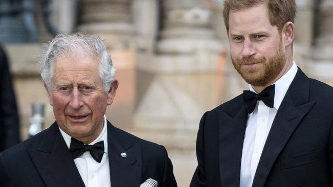 Prince Harry began emailing his father before Christmas. Picture: AFP/Niklas Hallen