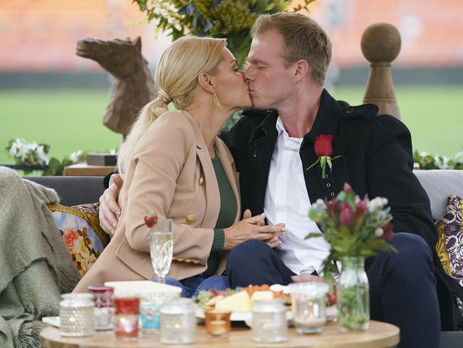 Jarrod Woodgate has never gotten over the moment he kissed Sophie Monk. Picture: TEN