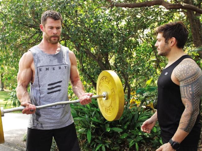 Luke Zocchi has trained Chris Hemsworth for years, accompanying him when he travels.