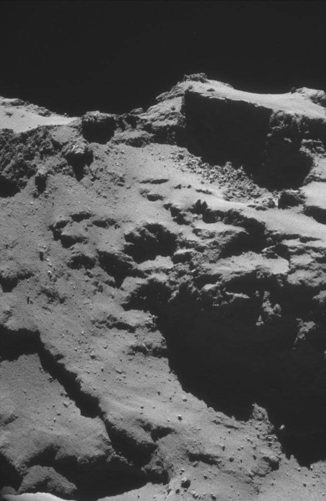 Lumpy bits ... An analysis of gases being emitted by comet 67P reveal it to be somewhat on the nose. Source: ESA