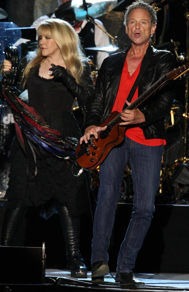 Ex-lovers Stevie Nicks and Lindsey Buckingham have had a famously volatile relationship. Picture: Supplied