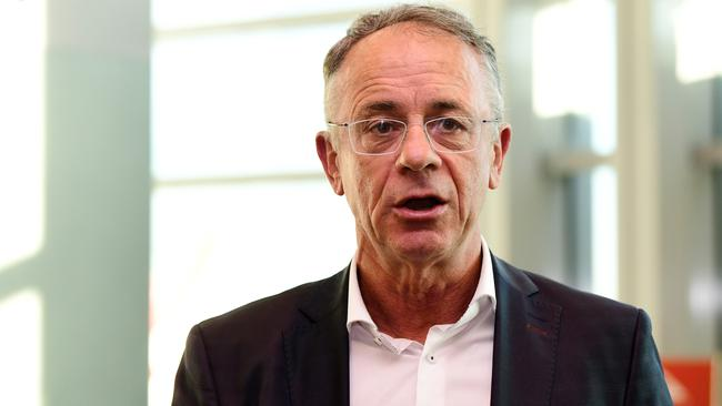 Qantas chief executive of domestic and international operations Andrew David said the industry had been turned 'upside down'. Picture: Bianca De Marchi/AAP