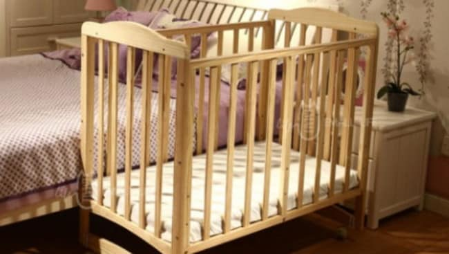The wooden baby cot crib toddler cradle bed has been recalled.