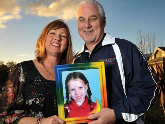 Allan Turner and wife Kim (with a photo of daughter Zaidee) who are in faovur of organ donation.