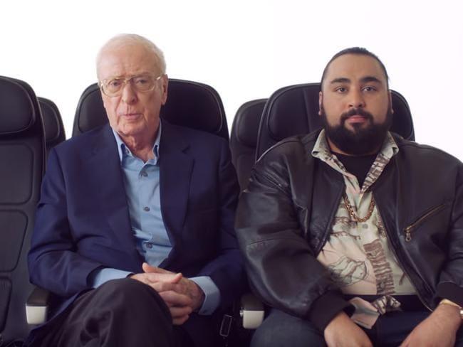 British Airways' new in-flight safety video stars Sir Michael Caine and Chabuddy G.