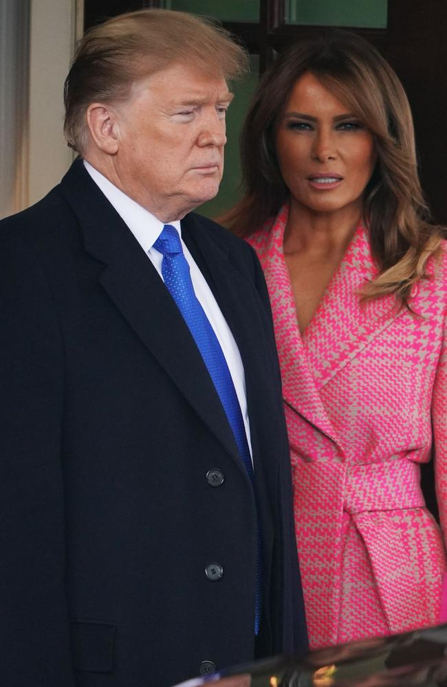 US President Donald Trump and First Lady Melania Trump. Picture: AP