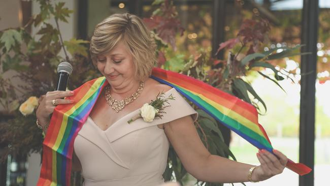 Vanessa, who proudly wore a rainbow sash, said in the end 'love wins'.