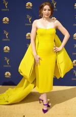Kayli Carter attends the 70th Emmy Awards at Microsoft Theater on September 17, 2018 in Los Angeles, California. Matt Winkelmeyer/Getty Images/AFP