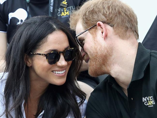 Harry and Meghan watch a Wheelchair Tennis match during the Invictus Games 2017. Picture: Chris Jackson/Getty Images for the Invictus Games Foundation.
