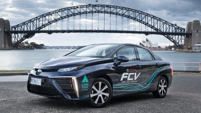 The Toyota Mirai in Sydney. Picture: Supplied.