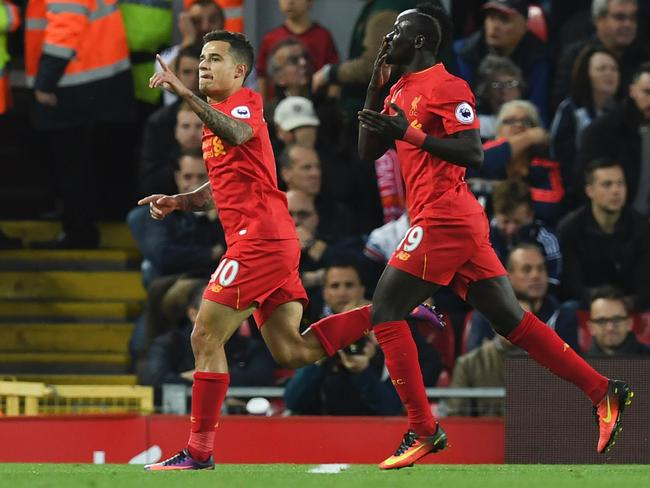Philippe Coutinho and Sadio Mane are central to Liverpool's title chances.