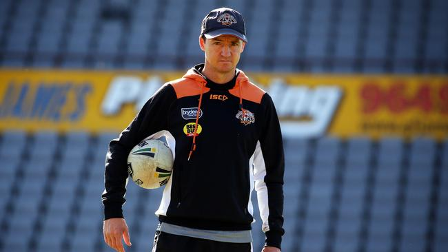 Wests Tigers coach Jason Taylor is set to be sacked following his team's dismal showing against the Raiders.