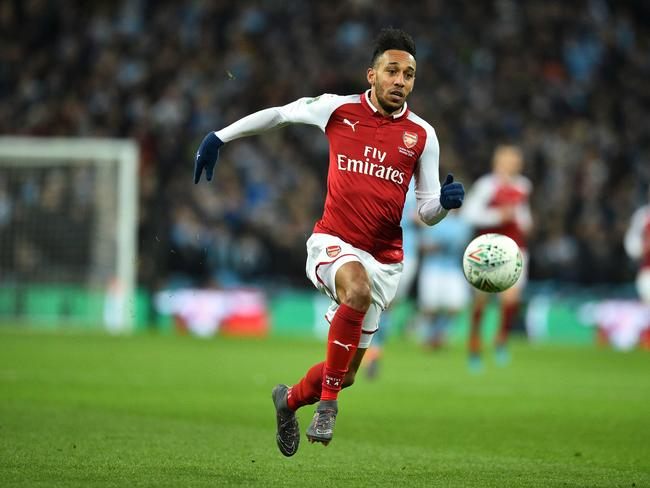 Arsenal's Gabonese striker Pierre-Emerick Aubameyang