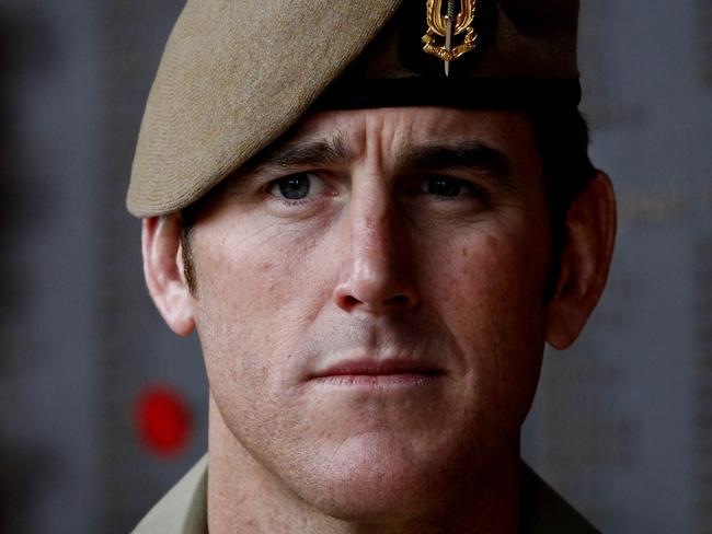 SAS Corporal Ben (Benjamin) Roberts-Smith VC, at the Australian War Memorial in Canberra. Pic Ray Strange