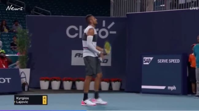 Nick Kyrgios involved in wild spat with spectator