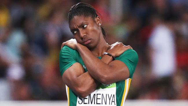 Caster Semenya competes on the Gold Coast on Monday. Picture. Phil Hillyard
