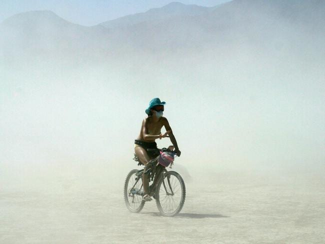 If you hate sand then Burning Man is not for you. Picture: John Horsley/Photoshot/Getty Images