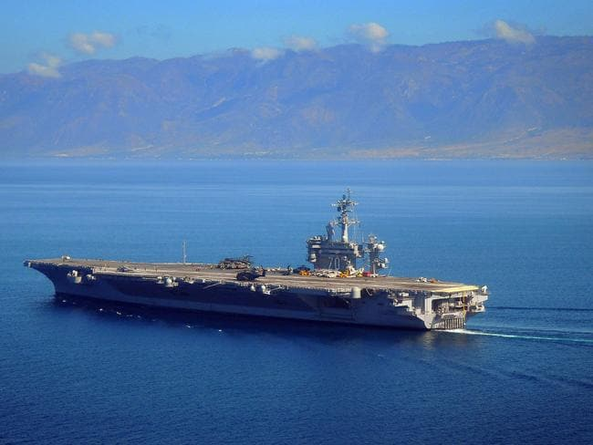 Osama bin Laden was given a burial at sea aboard the USS Carl Vinson. Picture: AP.